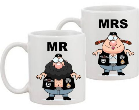 Mr & Mrs Biker Mugs